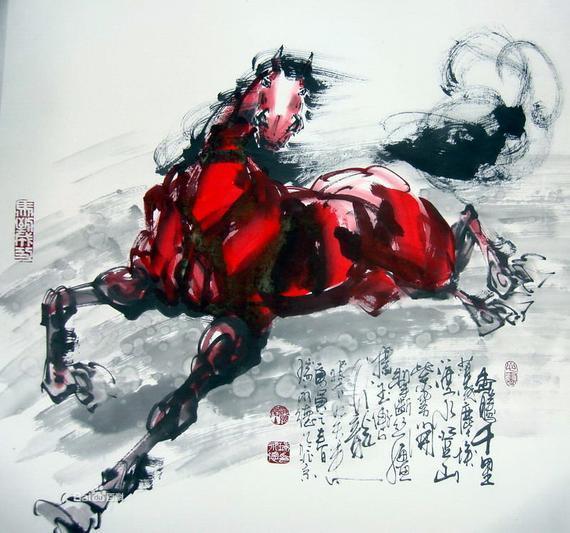 唐舞麟黑白简笔画