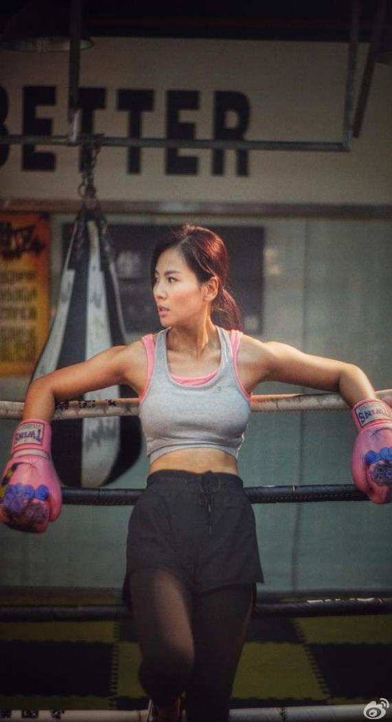 刘涛打拳照。