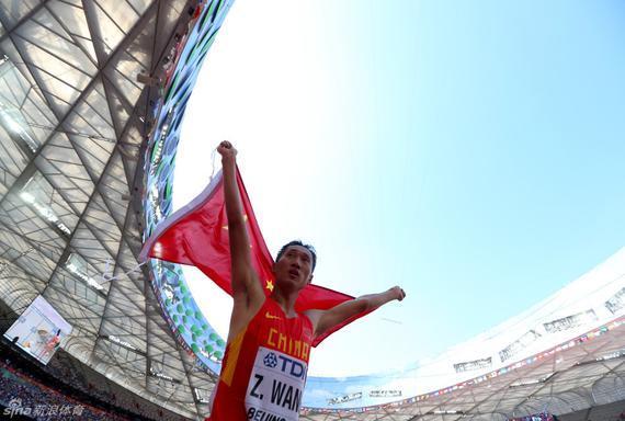 中国选手王镇获男子20公里竞走银牌