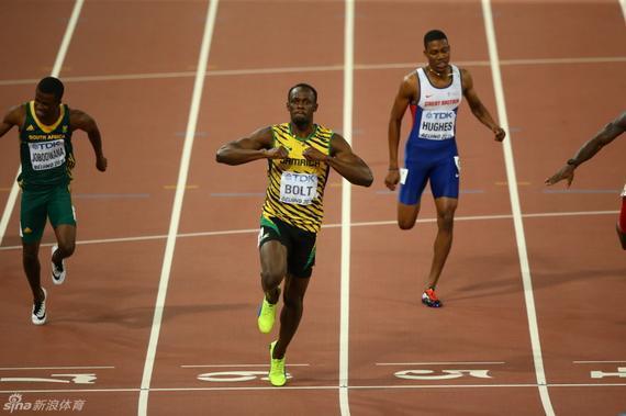 博尔特是这个地球上跑得最快的人