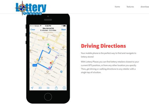 一款彩票App——Lottery Places