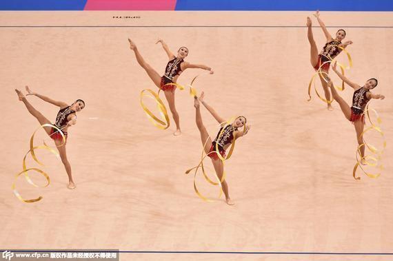 艺术体操世锦赛比赛现场