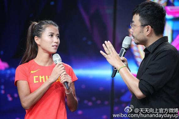 刘虹在节目中