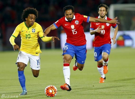 巴西队不敌智利