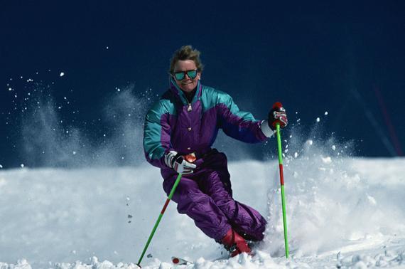 送给滑雪初学者滑雪最重要的是抬头图视频ae层图片