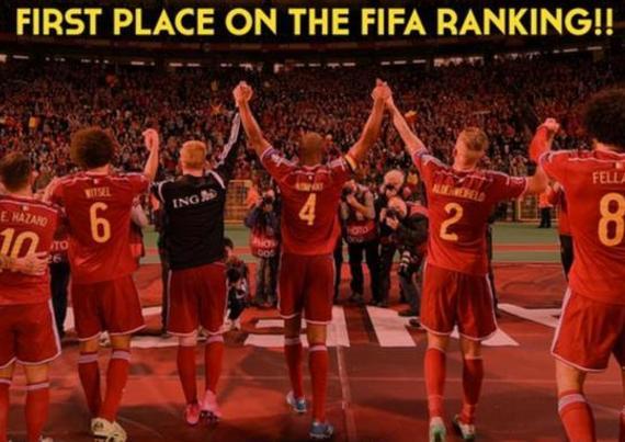 比利时队民间推特:国际第一!