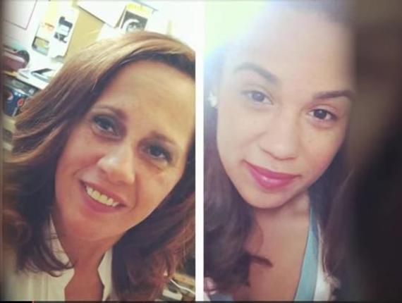 左为母亲芭芭拉 右为琳达