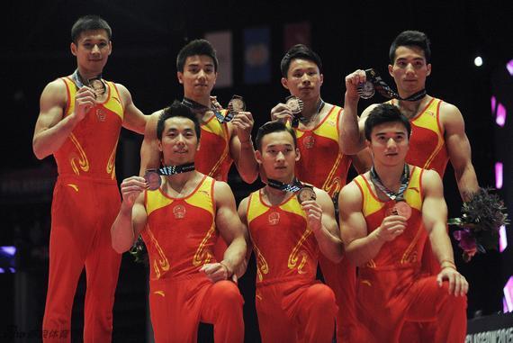 中国男团获得铜牌