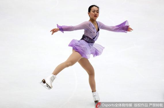 中国杯女单浅田真央失误仍夺冠 李子君列第九