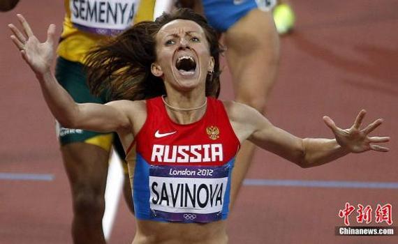 伦敦奥运冠军萨维诺娃