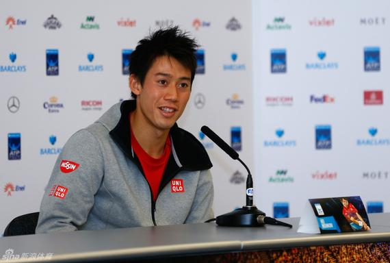 锦织圭是八人中最年轻的球员