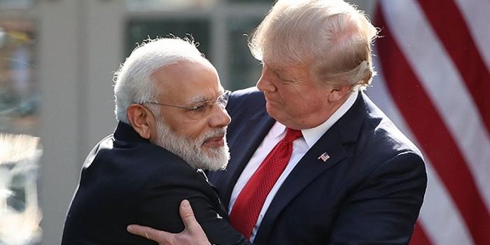 """""""美国爱印度"""":特朗普与莫迪来了一波商业互吹"""