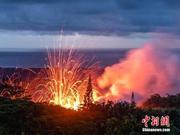 夏威夷火山再现300米新裂缝 附近民众再撤离(图)