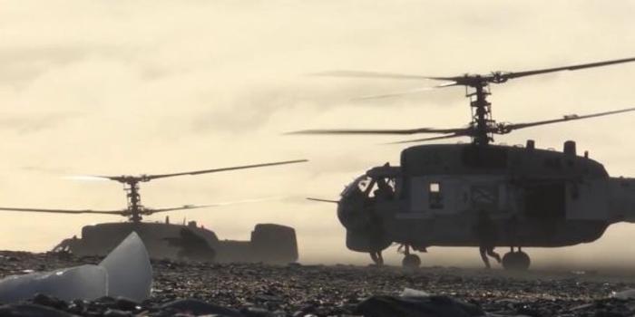 俄海军北方舰队举行极地两栖军演 出动多种主战装备