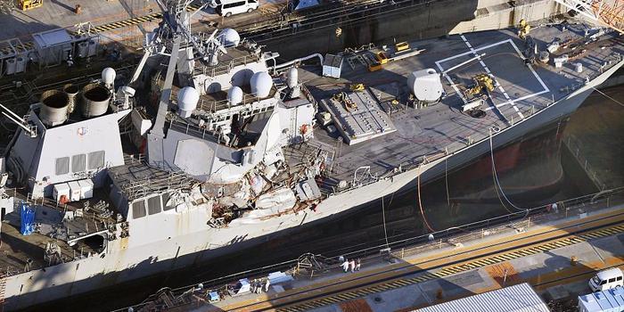 美驱逐舰被撞残 士兵及家属向船东索赔2.87亿美元
