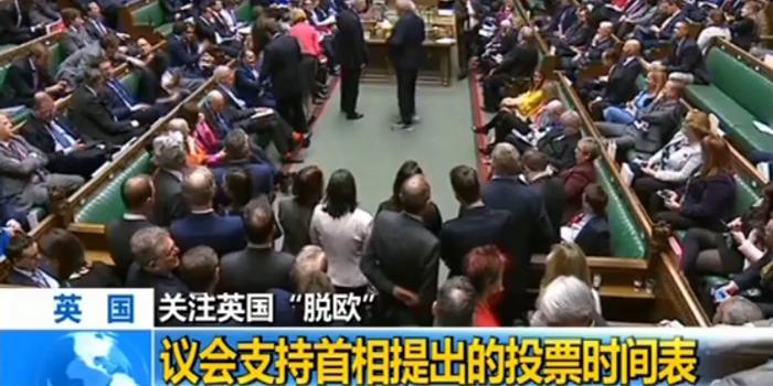 """英国议会支持首相提出的""""脱欧""""协议投票时间表"""