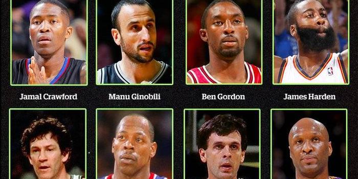 美媒晒12球员组图发问:最喜欢哪位第六人?