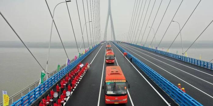湖北嘉鱼长江公路大桥今日正式通车