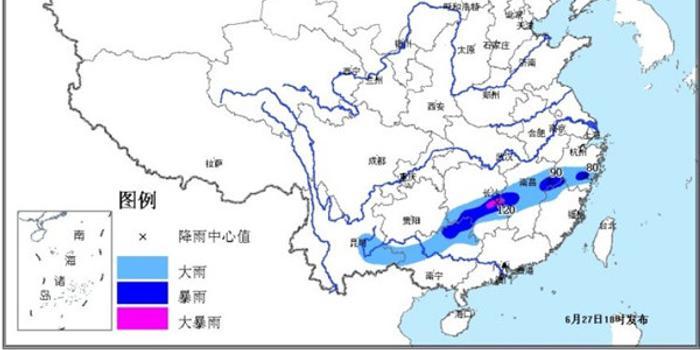 暴雨黄色预警:广西江西等局地有大暴雨