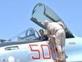 叙利亚总统阿萨德参观俄军基地 钻进苏35座舱(图)