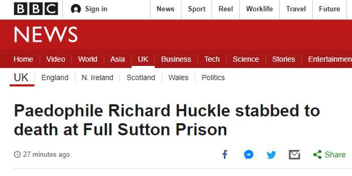英国恋童癖在监狱中被刺死 曾虐待超过200名儿童