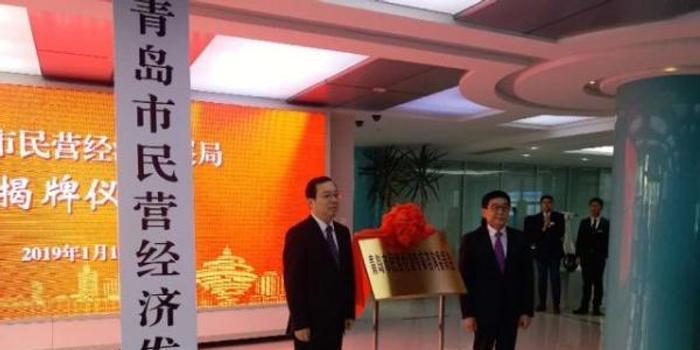 青岛市民营经济发展局揭牌成立,系副省级城市中首例