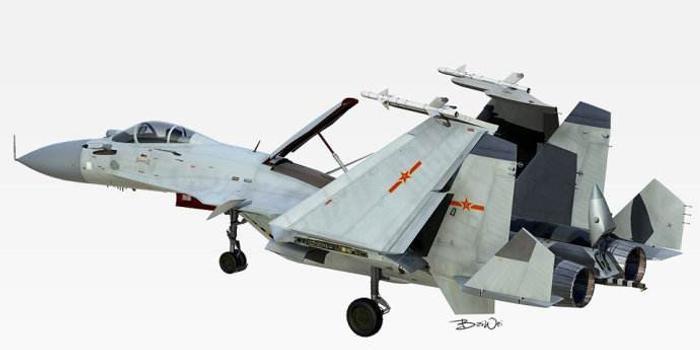 外媒猜测:歼-15双座型或正进行测试 或用作电子战