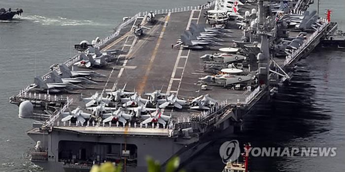 韩媒:美军航母到半岛一趟要花6000万元