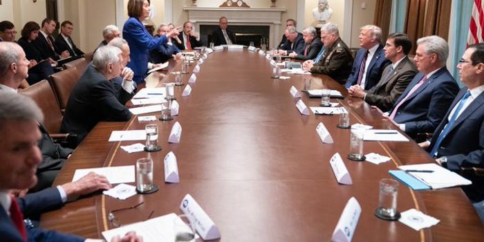 白宮開會討論敘利亞:民主黨離席 特朗普說