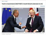欧洲理事会主席建议英国脱欧期限再延90天