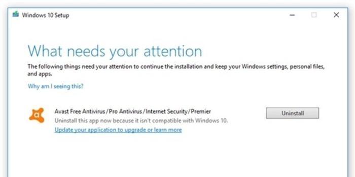 还是出现了 Windows 10 1909不兼容公告