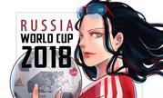 P站画师世界杯《海贼王》应援绘 俄罗斯队罗宾、巴西队路飞