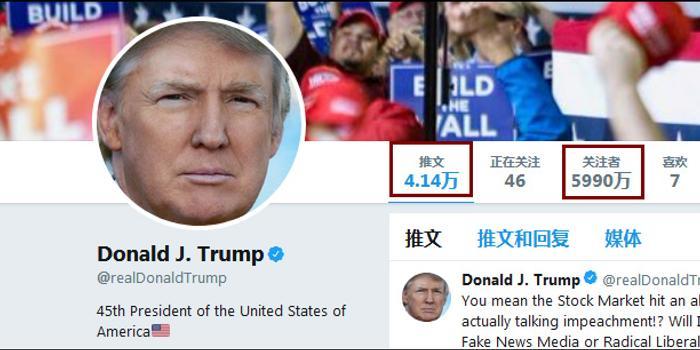 特朗普會見推特CEO:我為啥掉粉?