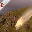 """英國颶風""""吹翻""""瀑布 水逆流飛向天空現彩虹(圖)"""