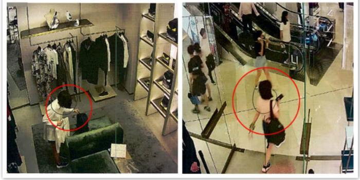 女子试衣频繁要求换尺码 费尽心机偷包露马脚(图)