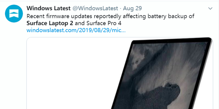又搞事情?微软部分Surface续航出现问题
