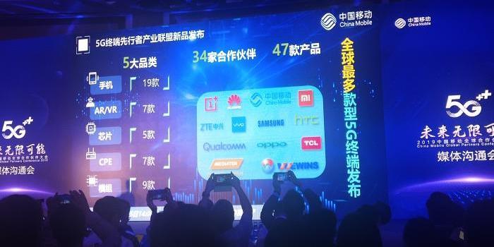 中国移动:将联合合作方发布19款5G手机 7款AR/VR眼镜