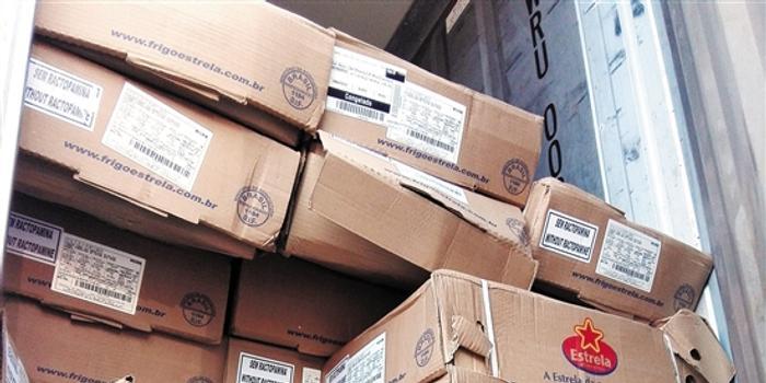 广东高速拦下27吨非法调运巴西冰鲜猪肉(图)