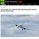 法国内政部长:警方挫败一起9·11式劫机恐袭阴谋