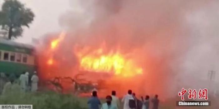 巴基斯坦火车大火死亡人数升至70人 另有30人受伤