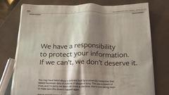 扎克伯格在英美9家报纸登报道歉 正式为泄密说Sorry