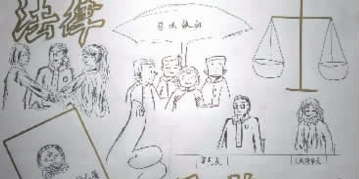 中学生画出法官忙碌的一天