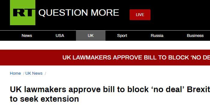 山东福利彩票双色球_英国国会1票优势通过法案 将阻止英国无协议脱欧