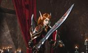 《魔兽世界》莉亚德琳COS美照 妹子身材高挑英气逼人