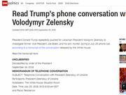"""美媒公布川普""""求帮忙""""通话记录"""