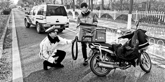 双十一后送货 摩托车涉牌违法增多