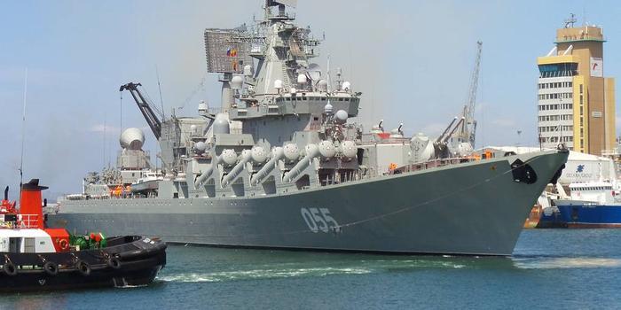 中俄军舰远赴南非参加海上军演 俄055号巡洋舰抵达
