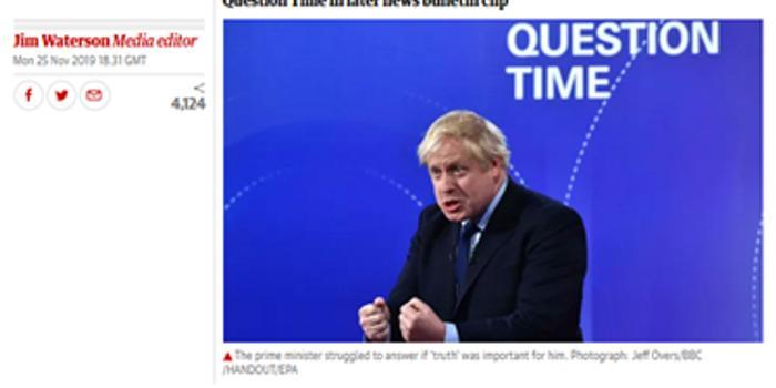 被指删去观众笑约翰逊声音 BBC:承认犯错 非故意