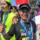 美国第34届洛杉矶马拉松开跑 华人跑手踊跃参加