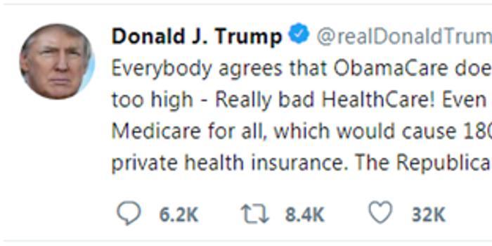 时时彩评测网_特朗普推特三连发 批奥巴马医改推销共和党方案